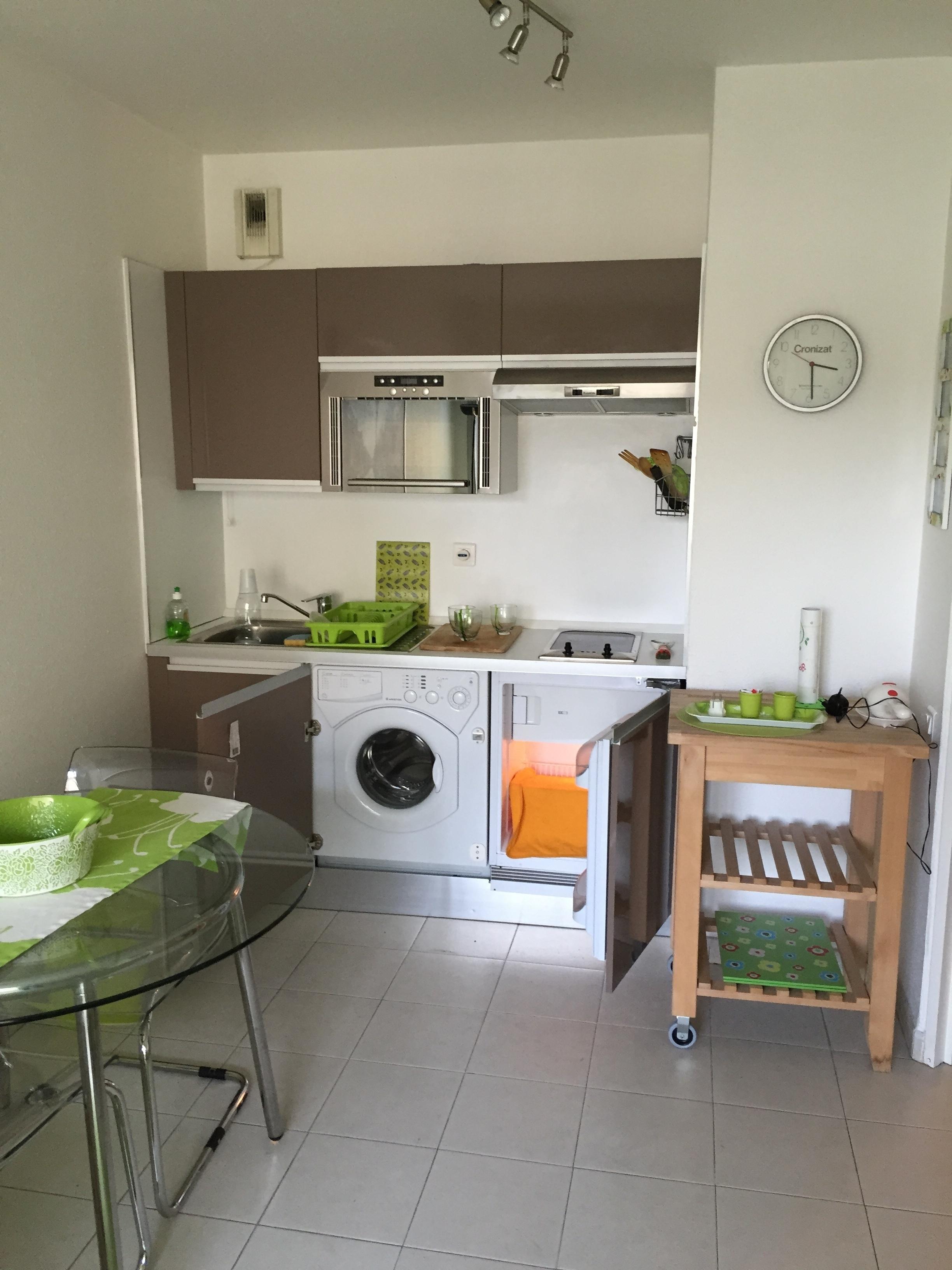 cuisine équipée de l'appartement