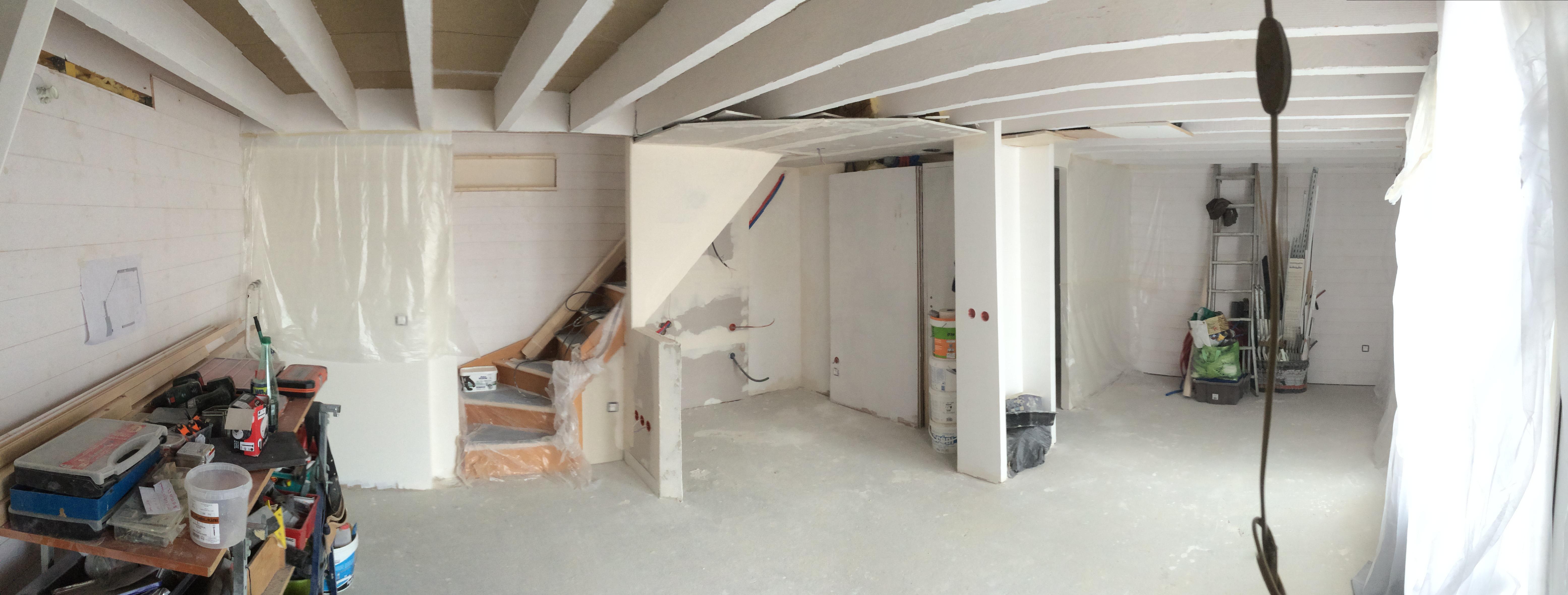 Vue du chantier en intérieur