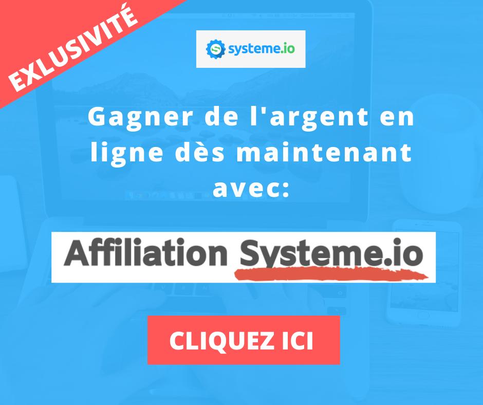 gagner de l'argent en ligne avec l'affiliation systeme io